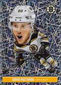 2018-19 Panini NHL Stickers Collection #13 David Pastrnak Fathead Foil Boston Bruins  Official Hockey Sticker (smaller than a regular card)