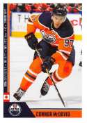 2018-19 Panini NHL Stickers Collection #375 Connor McDavid Edmonton Oilers  Official Hockey Sticker (smaller than a regular card)