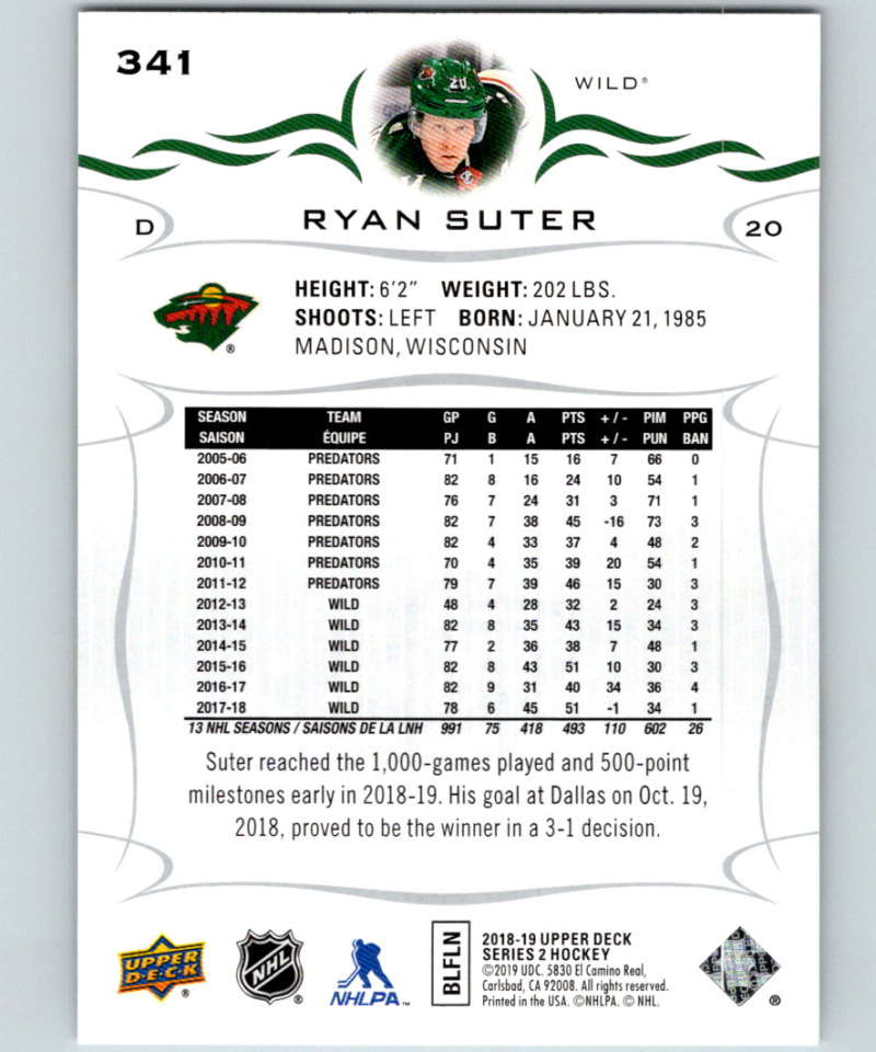 2018-19-Upper-Deck-Series-Two-Hockey-Cards-251-450-Complete-Your-Set-You-Pick miniature 181