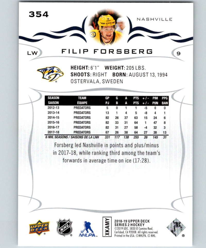 2018-19-Upper-Deck-Series-Two-Hockey-Cards-251-450-Complete-Your-Set-You-Pick miniature 207