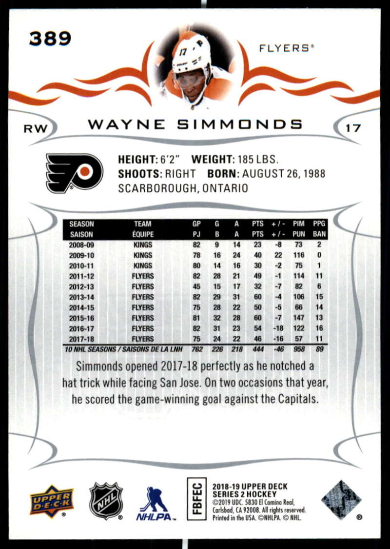 2018-19-Upper-Deck-Series-Two-Hockey-Cards-251-450-Complete-Your-Set-You-Pick miniature 277