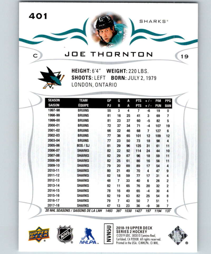 2018-19-Upper-Deck-Series-Two-Hockey-Cards-251-450-Complete-Your-Set-You-Pick miniature 299
