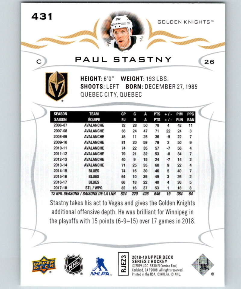 2018-19-Upper-Deck-Series-Two-Hockey-Cards-251-450-Complete-Your-Set-You-Pick miniature 359
