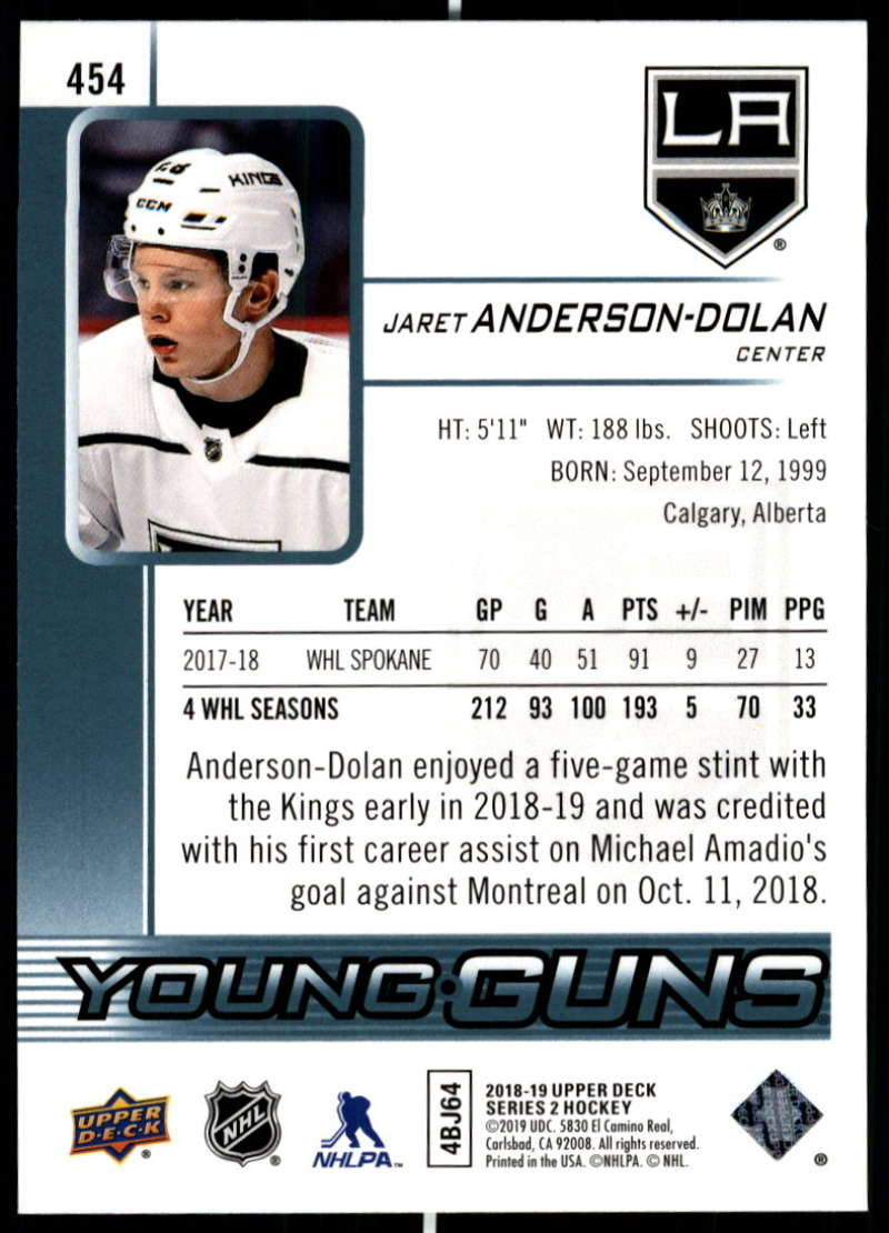 2018-19-Upper-Deck-Series-2-Young-Guns-Rookie-Cards-RC-Hockey-Singles-You-Pick miniature 7