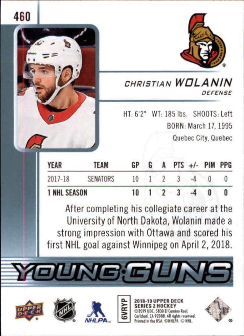 2018-19-Upper-Deck-Series-2-Young-Guns-Rookie-Cards-RC-Hockey-Singles-You-Pick miniature 15