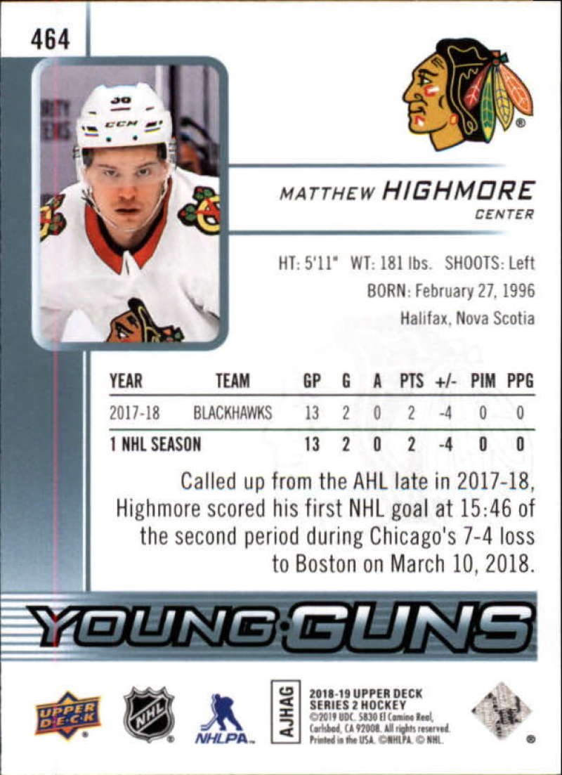 2018-19-Upper-Deck-Series-2-Young-Guns-Rookie-Cards-RC-Hockey-Singles-You-Pick miniature 19