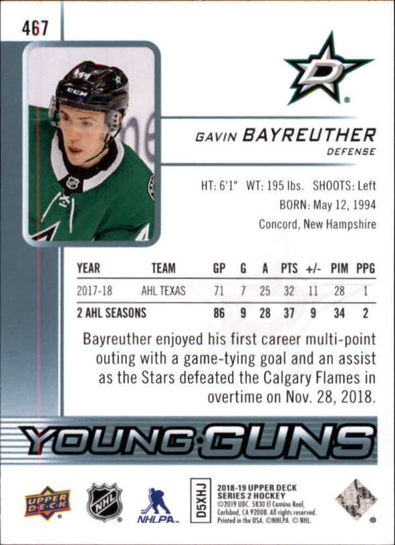 2018-19-Upper-Deck-Series-2-Young-Guns-Rookie-Cards-RC-Hockey-Singles-You-Pick miniature 23