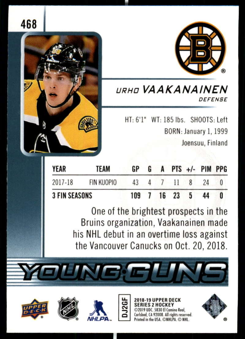 2018-19-Upper-Deck-Series-2-NHL-Hockey-Young-Guns-Base-Singles-Pick-Your-Cards miniature 37