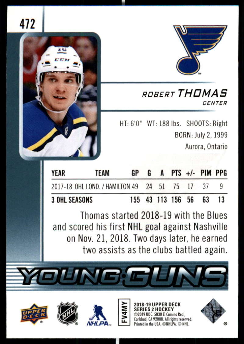2018-19-Upper-Deck-Series-2-Young-Guns-Rookie-Cards-RC-Hockey-Singles-You-Pick miniature 27