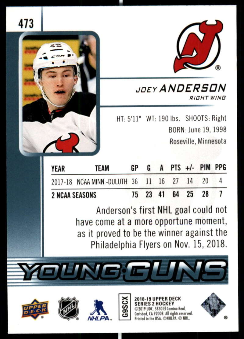 2018-19-Upper-Deck-Series-2-NHL-Hockey-Young-Guns-Base-Singles-Pick-Your-Cards miniature 45