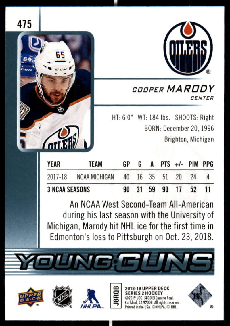 2018-19-Upper-Deck-Series-2-Young-Guns-Rookie-Cards-RC-Hockey-Singles-You-Pick miniature 31