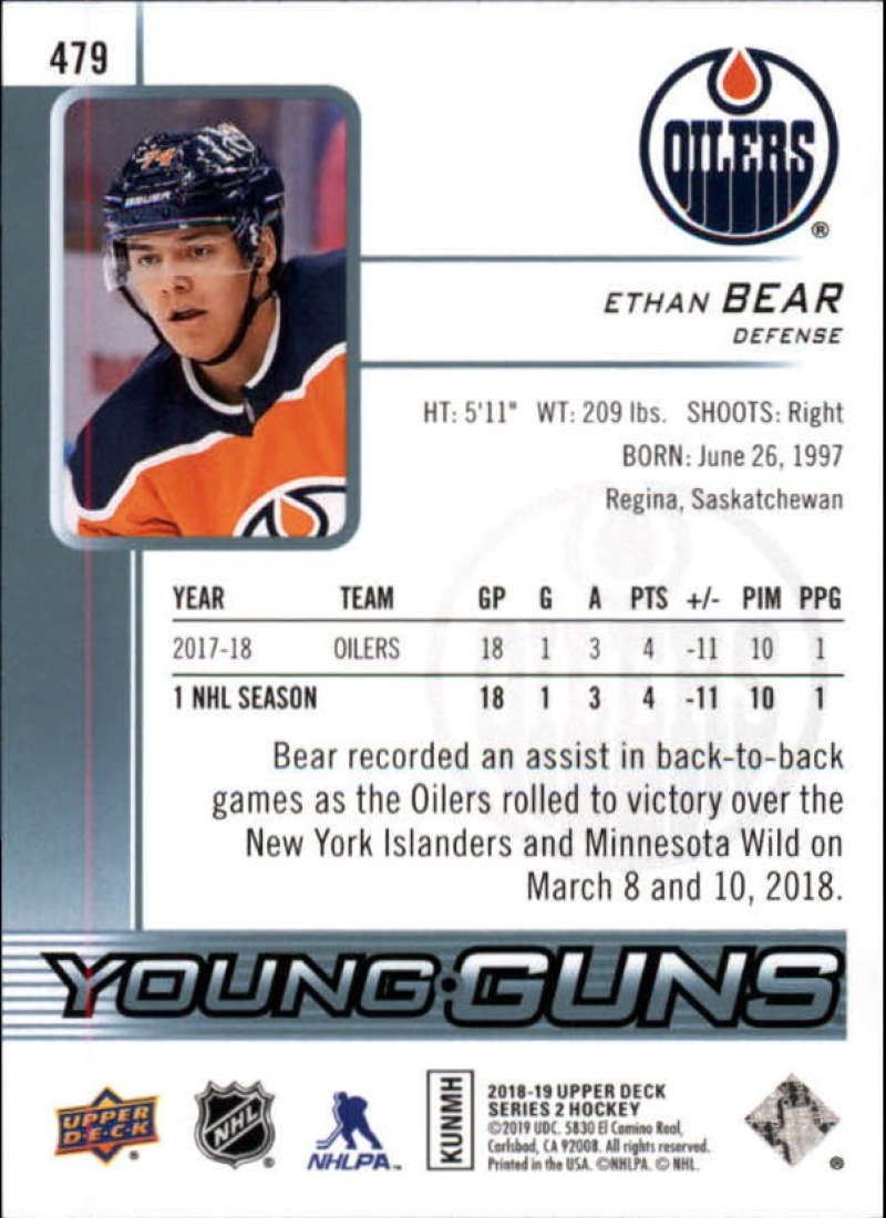 2018-19-Upper-Deck-Series-2-Young-Guns-Rookie-Cards-RC-Hockey-Singles-You-Pick miniature 35