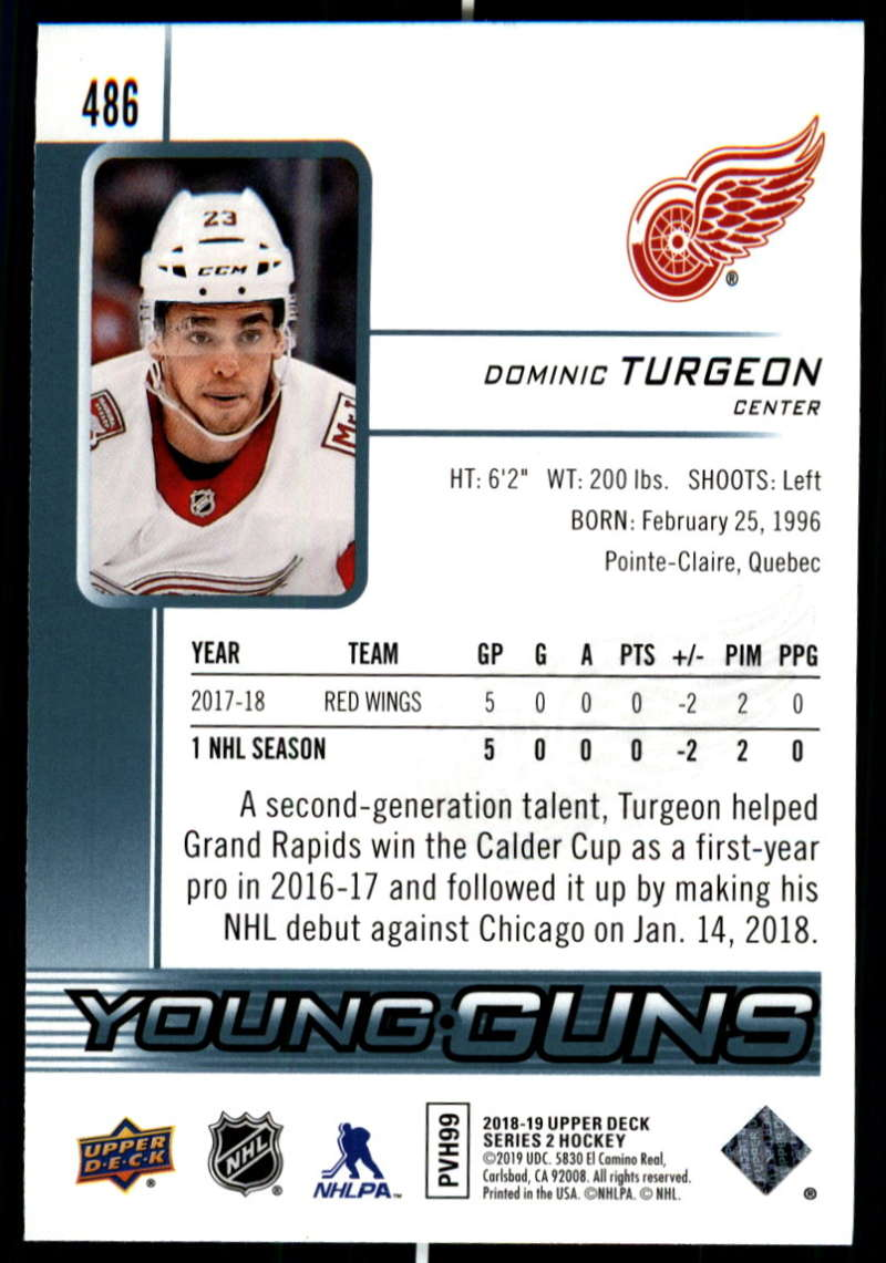 2018-19-Upper-Deck-Series-2-Young-Guns-Rookie-Cards-RC-Hockey-Singles-You-Pick miniature 39