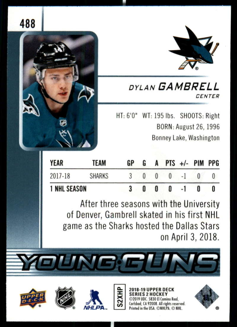 2018-19-Upper-Deck-Series-2-Young-Guns-Rookie-Cards-RC-Hockey-Singles-You-Pick miniature 43