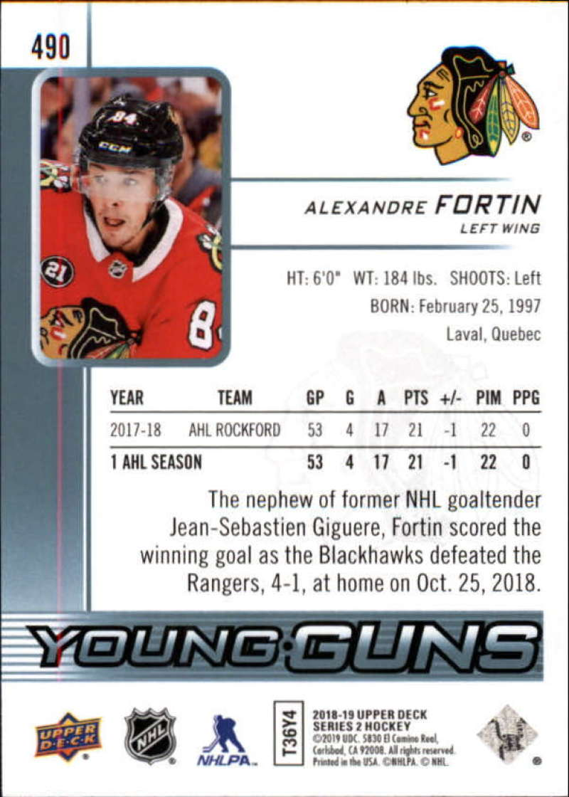 2018-19-Upper-Deck-Series-2-Young-Guns-Rookie-Cards-RC-Hockey-Singles-You-Pick miniature 45