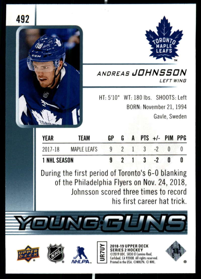 2018-19-Upper-Deck-Series-2-NHL-Hockey-Young-Guns-Base-Singles-Pick-Your-Cards miniature 69