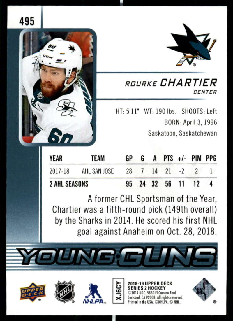 2018-19-Upper-Deck-Series-2-NHL-Hockey-Young-Guns-Base-Singles-Pick-Your-Cards miniature 83