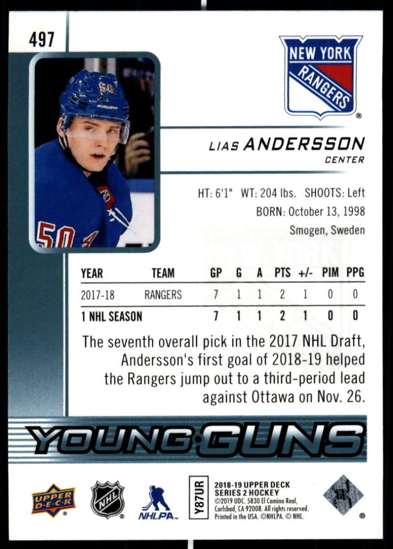 2018-19-Upper-Deck-Series-2-NHL-Hockey-Young-Guns-Base-Singles-Pick-Your-Cards miniature 87