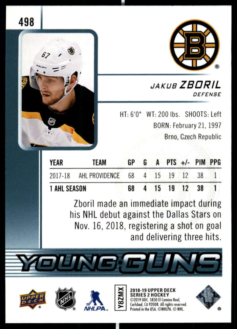 2018-19-Upper-Deck-Series-2-NHL-Hockey-Young-Guns-Base-Singles-Pick-Your-Cards miniature 89