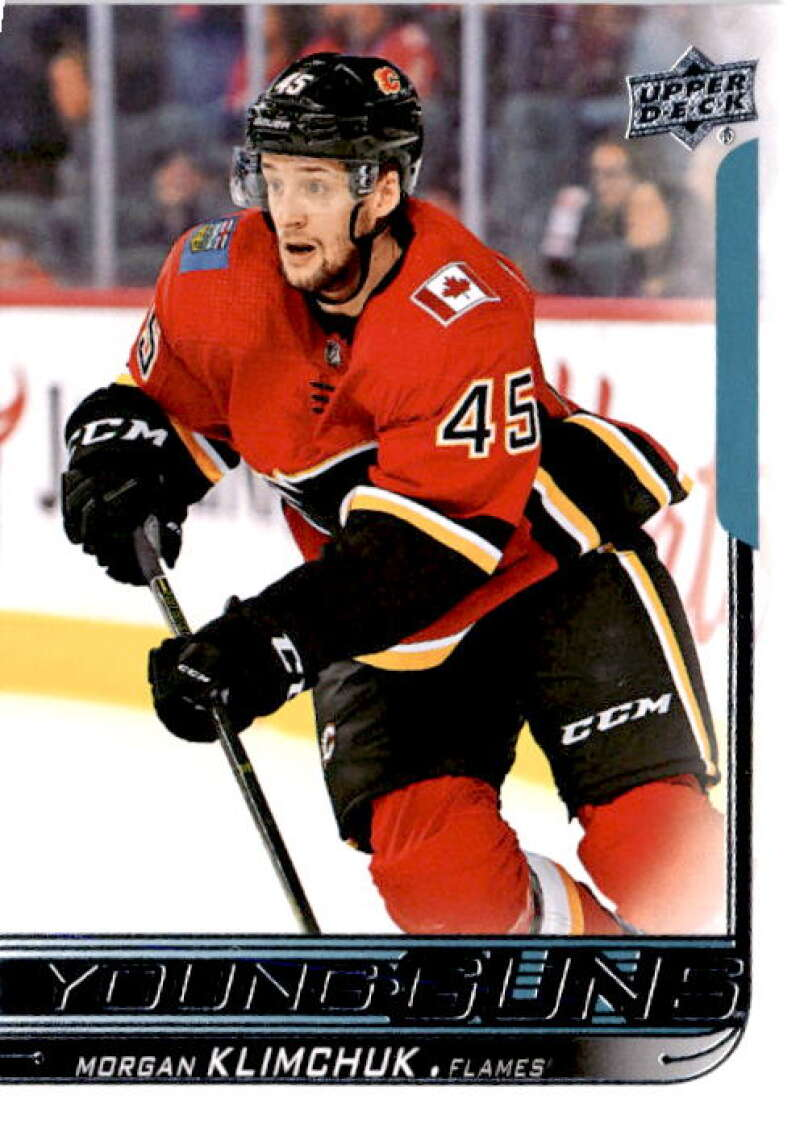 2018-19 Upper Deck Hockey Card #204 Morgan Klimchuk Calgary Flames Young Guns YG RC Official NHL UD Trading Card