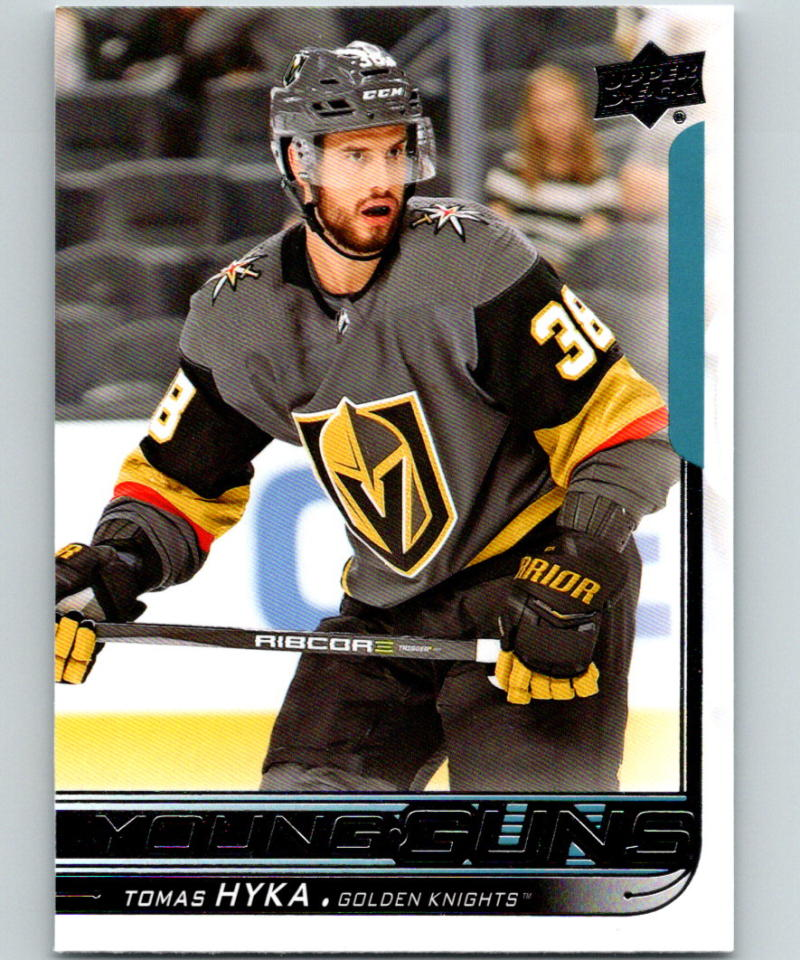 2018-19 Upper Deck Hockey #224 Tomas Hyka Vegas Golden Knights Young Guns YG Rookie Official NHL UD Trading Card