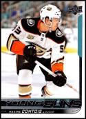 2018-19 Upper Deck Hockey Card #216 Max Comtois Anaheim Ducks Young Guns YG RC Rookie Official NHL UD Trading Card