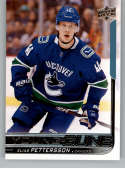 2018-19 Upper Deck Hockey #248 Elias Pettersson Vancouver Canucks Young Guns YG Rookie Official NHL UD Trading Card
