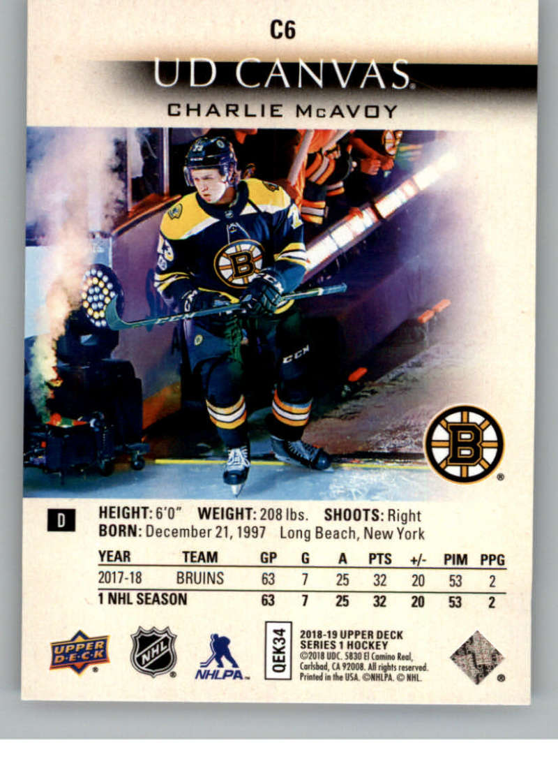 2018-19-Upper-Deck-CANVAS-Hockey-Series-1-amp-2-Vets-Young-Guns-RC-Pick-Yer-Cards miniature 9
