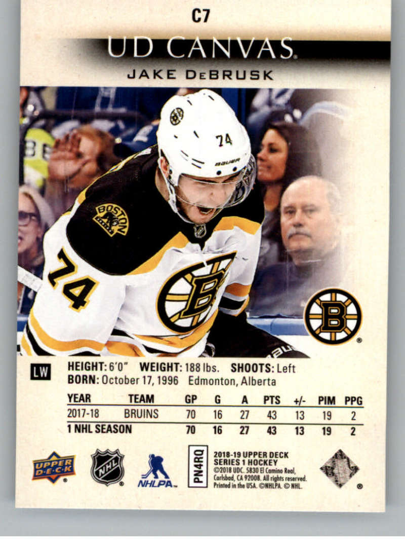 2018-19-Upper-Deck-CANVAS-Hockey-Series-1-amp-2-Vets-Young-Guns-RC-Pick-Yer-Cards miniature 11