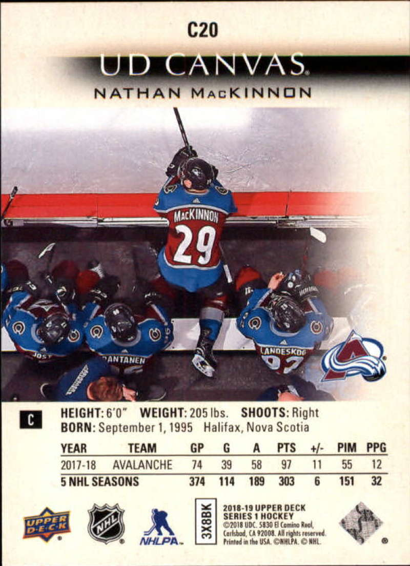 2018-19-Upper-Deck-Canvas-18-19-UD-Series-One-Hockey-Cards-Pick-From-List miniature 21