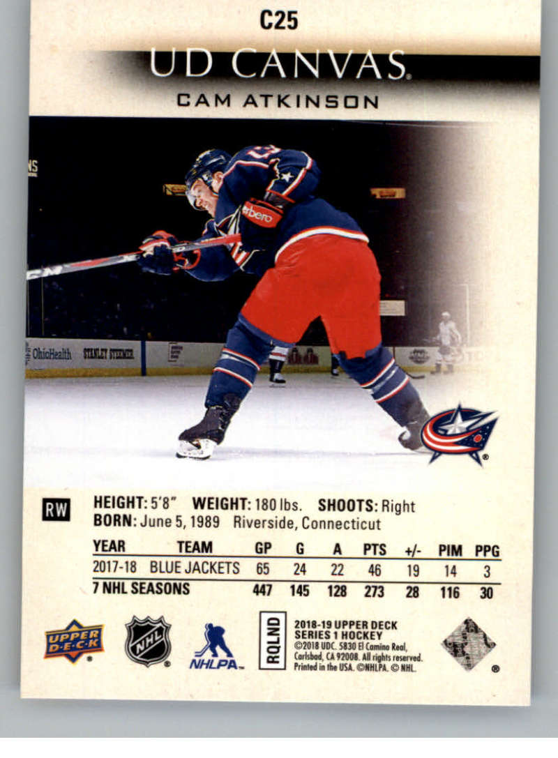 2018-19-Upper-Deck-CANVAS-Hockey-Series-1-amp-2-Vets-Young-Guns-RC-Pick-Yer-Cards miniature 37