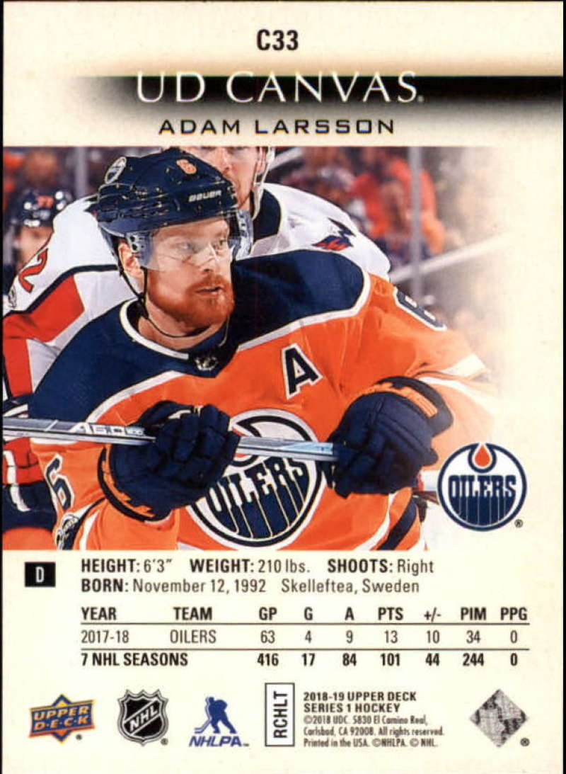 2018-19-Upper-Deck-Canvas-18-19-UD-Series-One-Hockey-Cards-Pick-From-List miniature 35