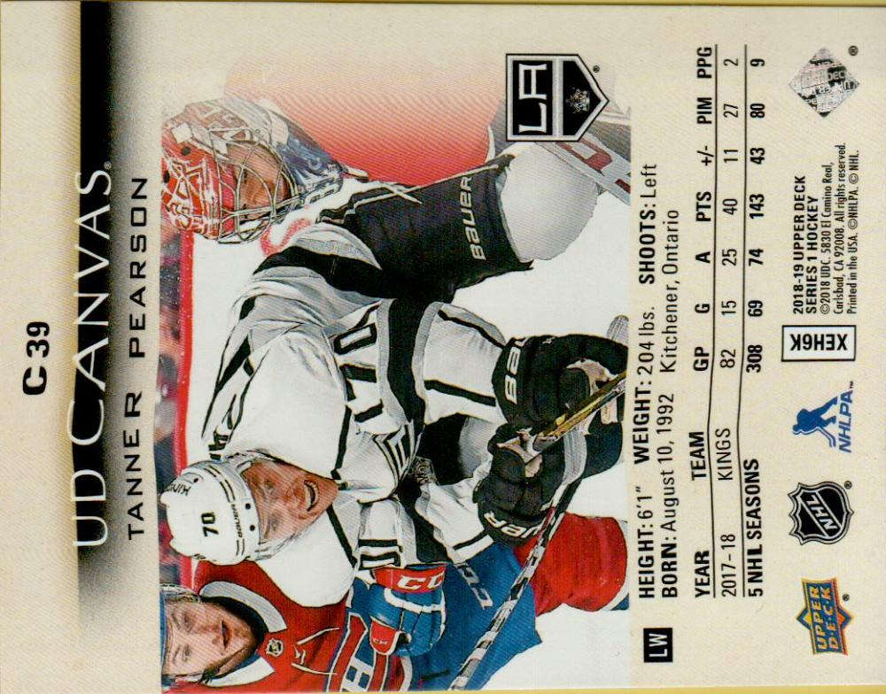 2018-19-Upper-Deck-CANVAS-Hockey-Series-1-amp-2-Vets-Young-Guns-RC-Pick-Yer-Cards miniature 57