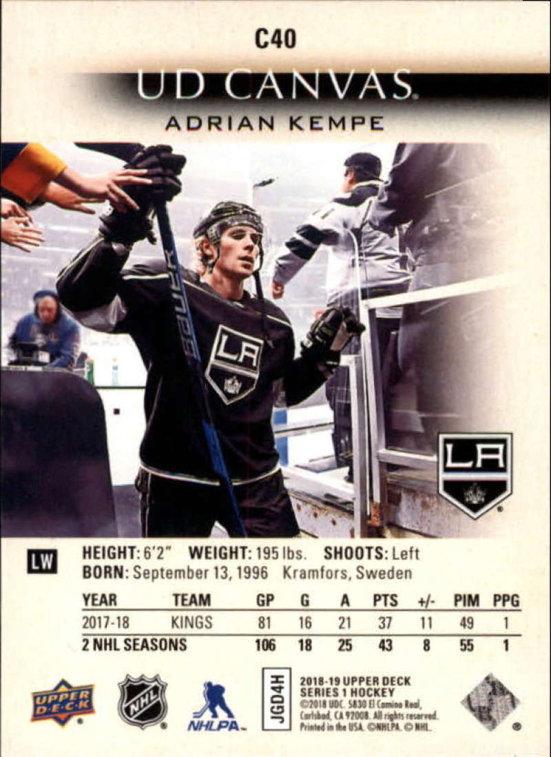 2018-19-Upper-Deck-Canvas-18-19-UD-Series-One-Hockey-Cards-Pick-From-List miniature 45
