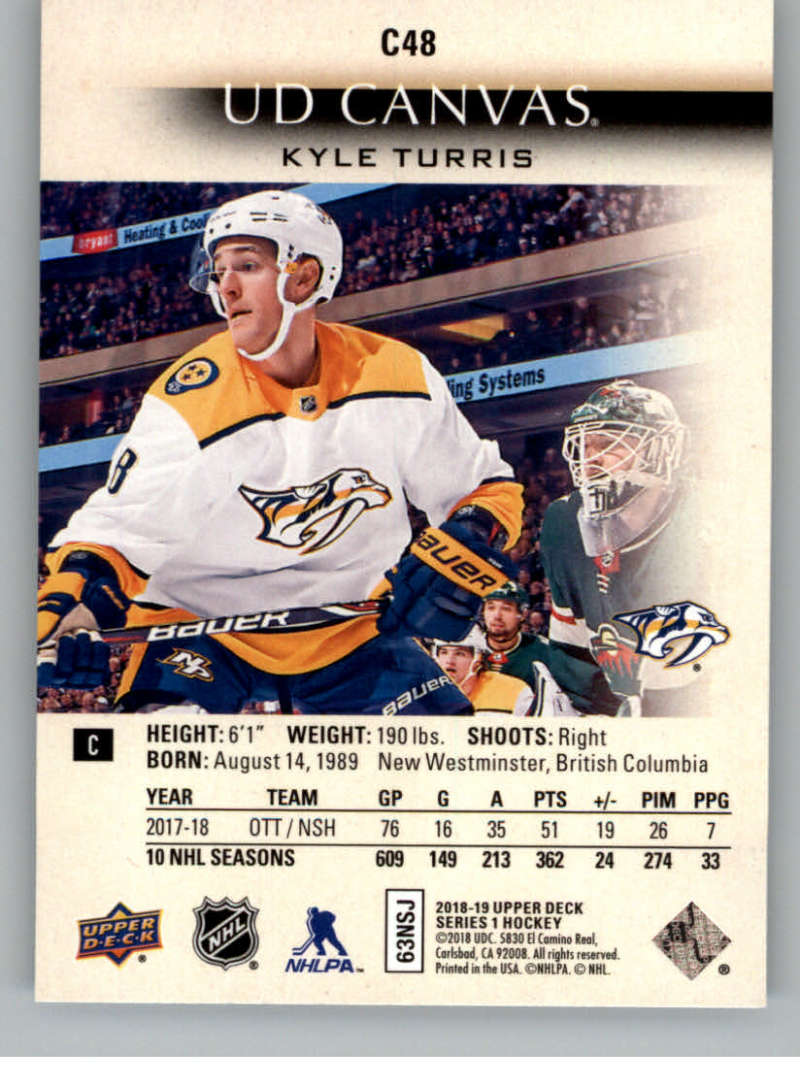 2018-19-Upper-Deck-CANVAS-Hockey-Series-1-amp-2-Vets-Young-Guns-RC-Pick-Yer-Cards miniature 71