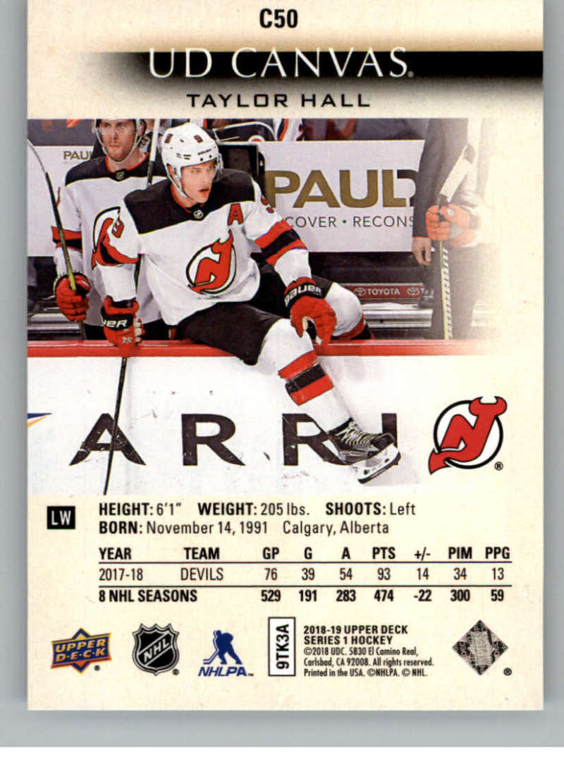 2018-19-Upper-Deck-CANVAS-Hockey-Series-1-amp-2-Vets-Young-Guns-RC-Pick-Yer-Cards miniature 75