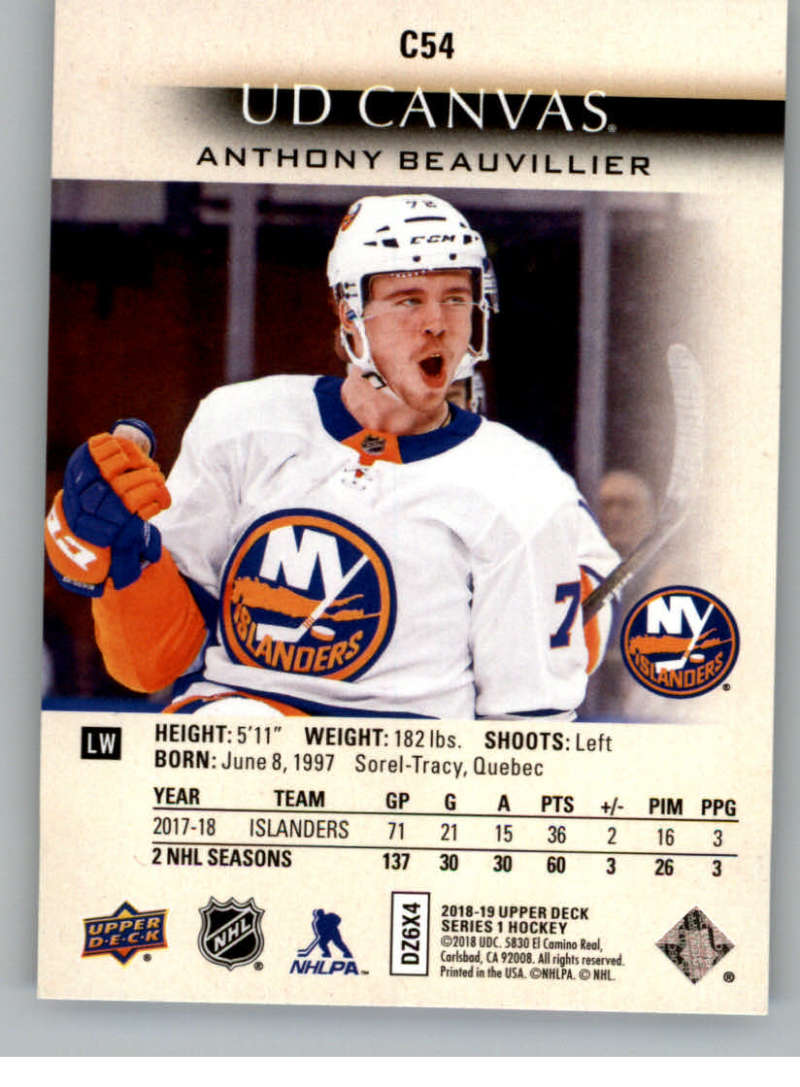 2018-19-Upper-Deck-CANVAS-Hockey-Series-1-amp-2-Vets-Young-Guns-RC-Pick-Yer-Cards miniature 81