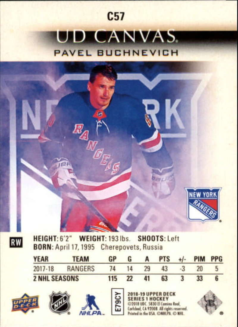 2018-19-Upper-Deck-CANVAS-Hockey-Series-1-amp-2-Vets-Young-Guns-RC-Pick-Yer-Cards miniature 85
