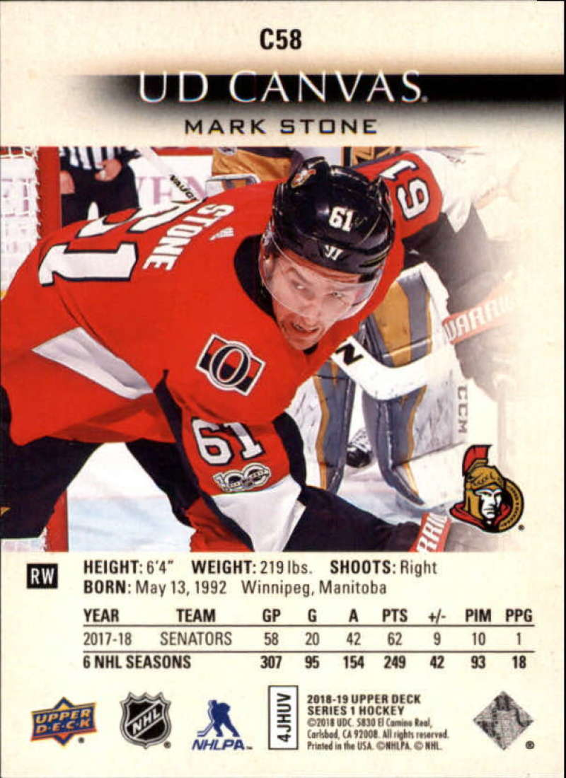 2018-19-Upper-Deck-CANVAS-Hockey-Series-1-amp-2-Vets-Young-Guns-RC-Pick-Yer-Cards miniature 87