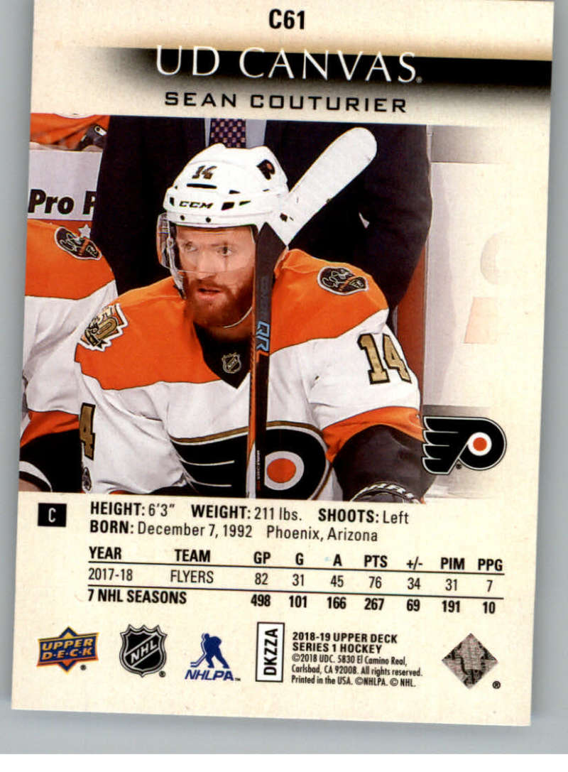 2018-19-Upper-Deck-CANVAS-Hockey-Series-1-amp-2-Vets-Young-Guns-RC-Pick-Yer-Cards miniature 93