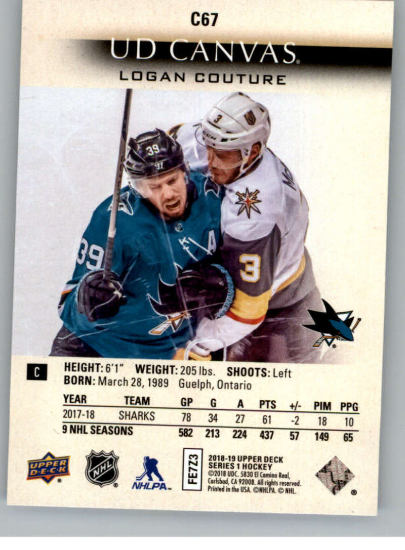 2018-19-Upper-Deck-CANVAS-Hockey-Series-1-amp-2-Vets-Young-Guns-RC-Pick-Yer-Cards miniature 99