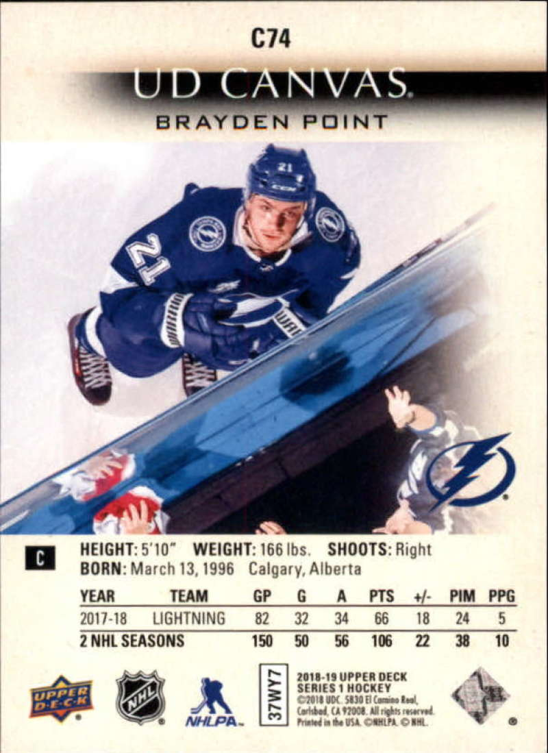 2018-19-Upper-Deck-CANVAS-Hockey-Series-1-amp-2-Vets-Young-Guns-RC-Pick-Yer-Cards miniature 111