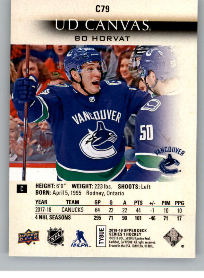 2018-19-Upper-Deck-CANVAS-Hockey-Series-1-amp-2-Vets-Young-Guns-RC-Pick-Yer-Cards miniature 117