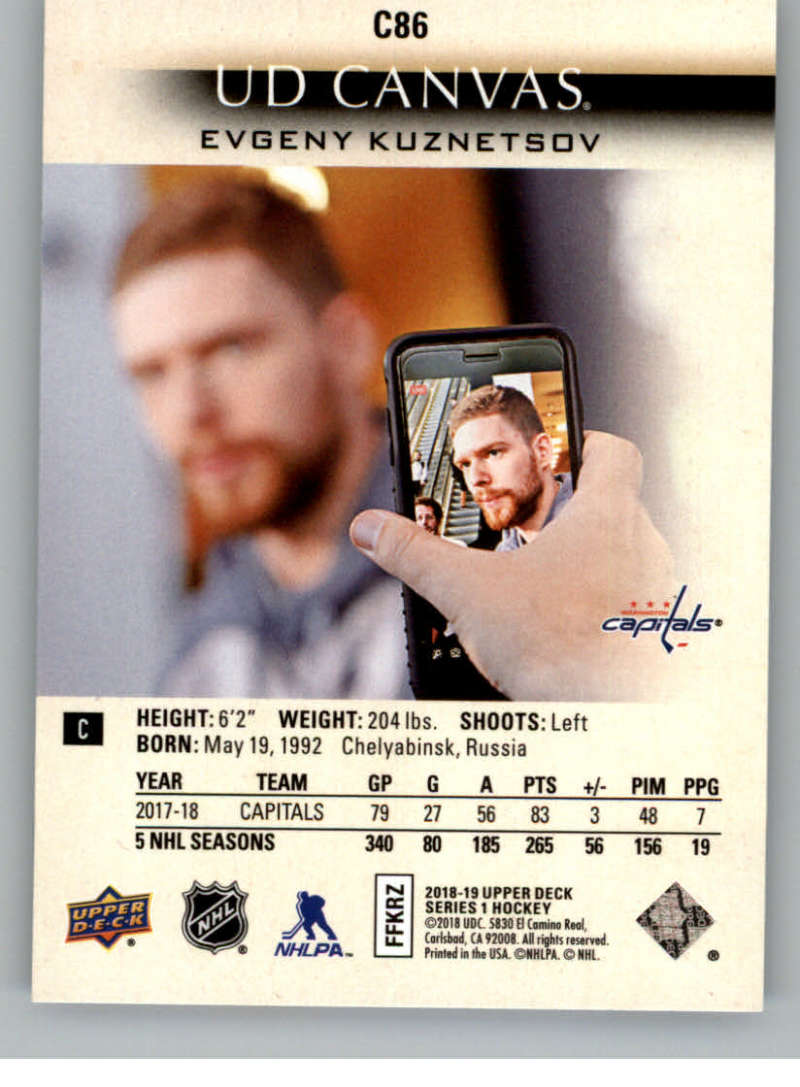 2018-19-Upper-Deck-CANVAS-Hockey-Series-1-amp-2-Vets-Young-Guns-RC-Pick-Yer-Cards miniature 129