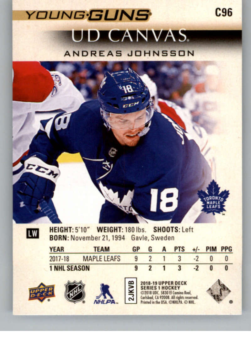 2018-19-Upper-Deck-CANVAS-Hockey-Series-1-amp-2-Vets-Young-Guns-RC-Pick-Yer-Cards miniature 135