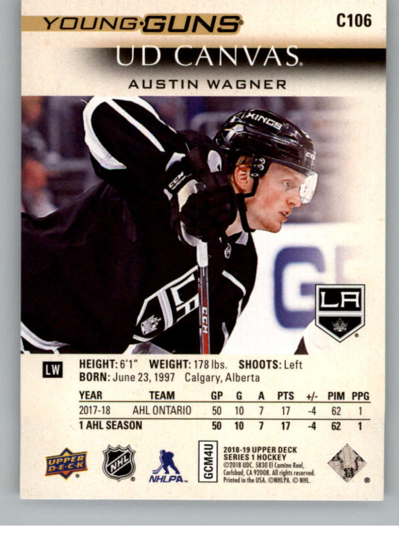 2018-19-Upper-Deck-CANVAS-Hockey-Series-1-amp-2-Vets-Young-Guns-RC-Pick-Yer-Cards miniature 141