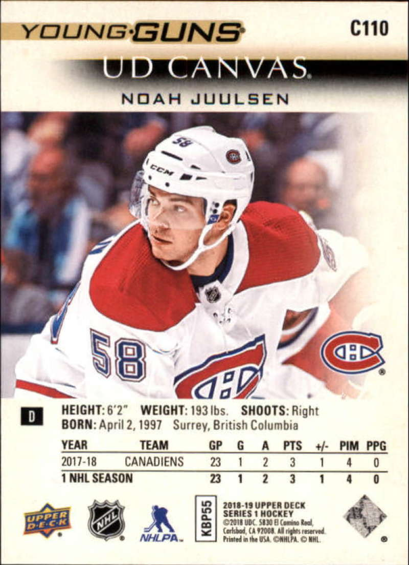 2018-19-Upper-Deck-Canvas-18-19-UD-Series-One-Hockey-Cards-Pick-From-List miniature 121