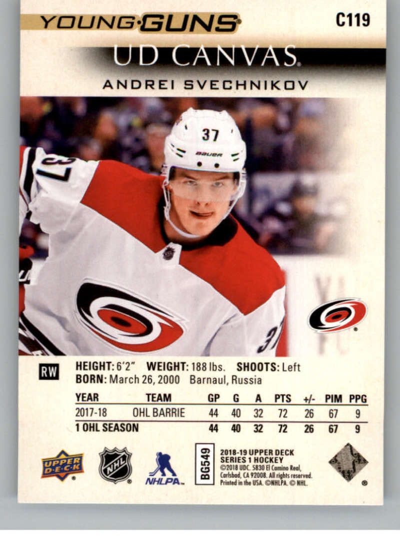 2018-19-Upper-Deck-CANVAS-Hockey-Series-1-amp-2-Vets-Young-Guns-RC-Pick-Yer-Cards miniature 149