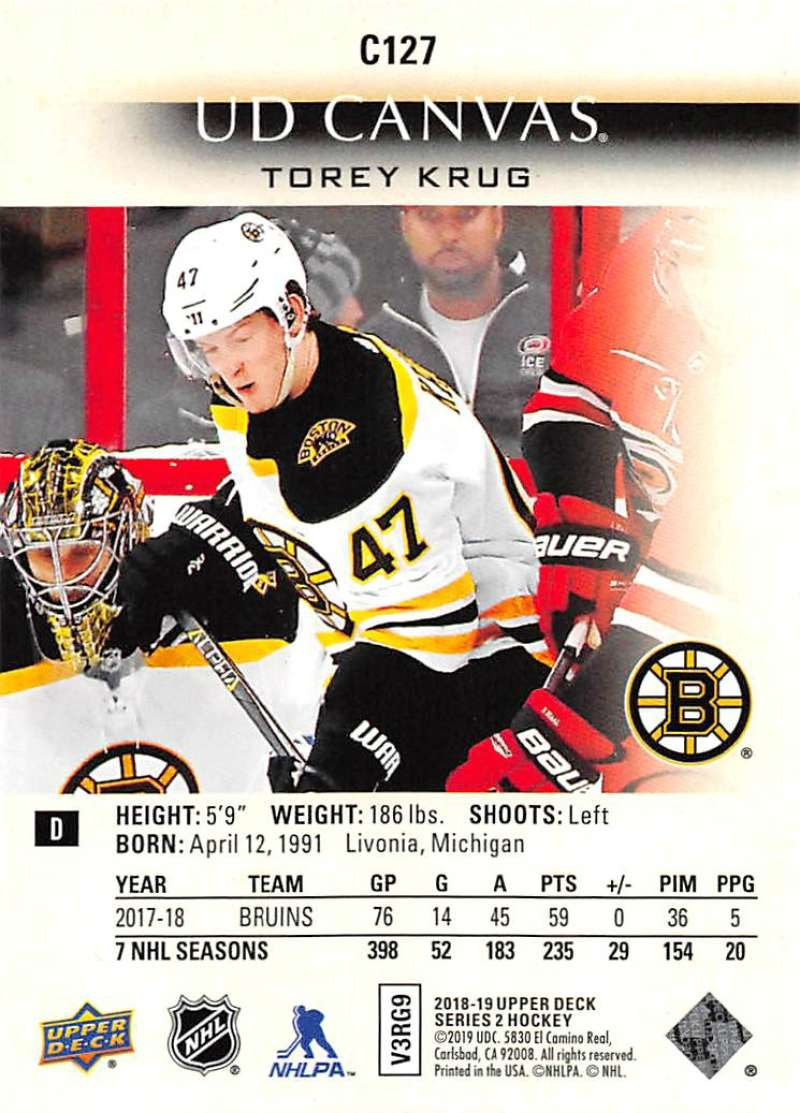 2018-19-Upper-Deck-CANVAS-Hockey-Series-1-amp-2-Vets-Young-Guns-RC-Pick-Yer-Cards miniature 163