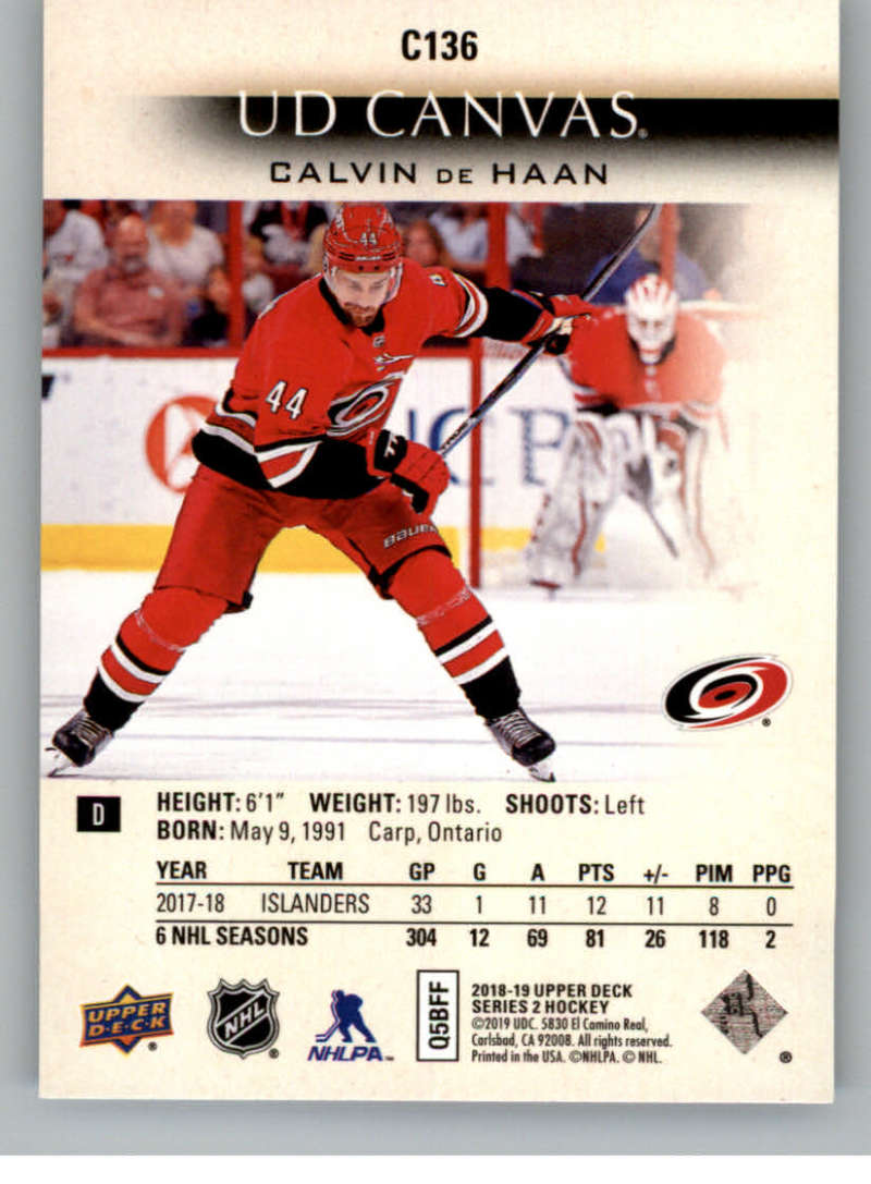 2018-19-Upper-Deck-CANVAS-Hockey-Series-1-amp-2-Vets-Young-Guns-RC-Pick-Yer-Cards miniature 177
